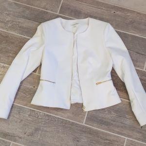 Calvin Klein White Dress Jacket